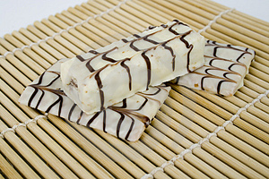 White Chocolate On Bamboo Stock Photography - Image: 1819762