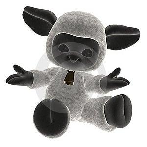Toy Lamb 2 Royalty Free Stock Photos - Image: 18100008
