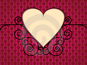 Valentine Day Background With Hearts Stock Images - Image: 18100154