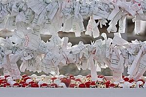Japanese Sacred Lottery Omikuji  Stock Images - Image: 18100424