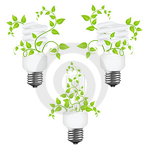 Set Power Saving Lamps Royalty Free Stock Images - Image: 18100699