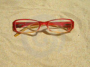 Red Eyeglasses Royalty Free Stock Photos - Image: 18101538