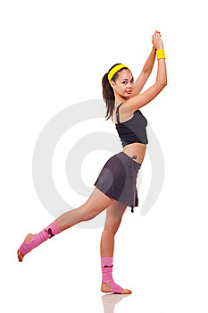 Young Girl Doing Exercises Royalty Free Stock Image - Image: 18101896