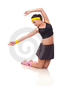 Young Girl Doing Exercises Stock Photos - Image: 18101933