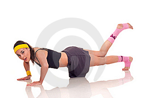 Young Girl Doing Exercises Stock Photos - Image: 18101953