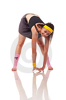 Young Girl Doing Exercises Royalty Free Stock Images - Image: 18102019