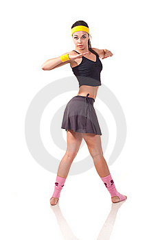 Young Girl Doing Exercises Royalty Free Stock Photos - Image: 18102048