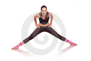 Young Girl Doing A Fitness Exercises Stock Photo - Image: 18102200