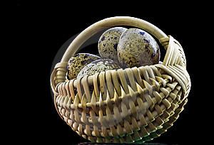 Decorative Basket With Quail Eggs Royalty Free Stock Photography - Image: 18112457
