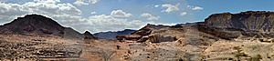 Panoramic View On Geological Timna Park, Israel Royalty Free Stock Image - Image: 18118736