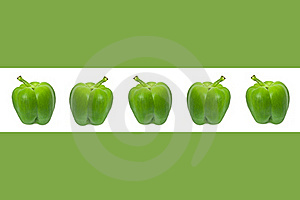 Green Pepper Border. Royalty Free Stock Photography - Image: 18118887