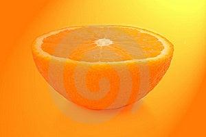 Orange Half. Stock Photos - Image: 18118913