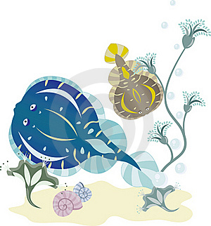 Flounder Underwater World Royalty Free Stock Photos - Image: 18119168