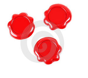 Three Red Seal Stock Images - Image: 18119304
