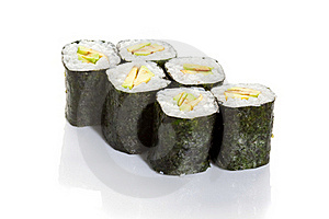 Avocado Maki Royalty Free Stock Images - Image: 18120229