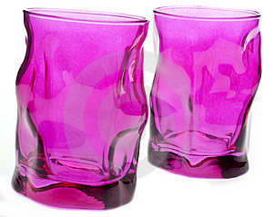 Vibrant Pink Glassware Stock Photos - Image: 18122193