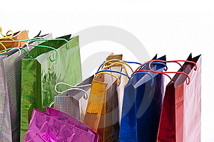Colourful Shop Bags. Stock Photos - Image: 18122203