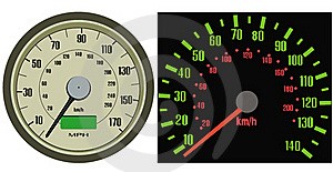 Speedometer Vector Royalty Free Stock Images - Image: 18124169