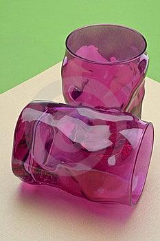 Vibrant Pink Glassware Stock Photos - Image: 18125263