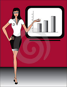 Business Office Women  Illustration Stock Photography - Image: 18127172