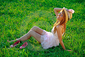 Sexy Young Girl Smiling On Green Background Stock Photo - Image: 18127570
