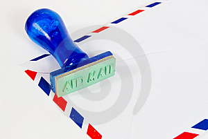 Approve Stamp On Air Mail Royalty Free Stock Photo - Image: 18127655