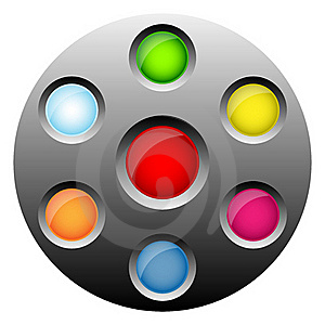 Round Web Buttons Stock Photos - Image: 18133603