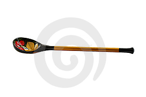 Wooden Spoon Covered Color Varnished Pattern Stock Photography - Image: 18138452
