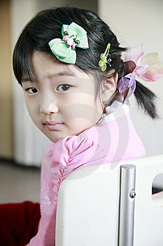 Cute Little Girl Turning Back Stock Images - Image: 18138684