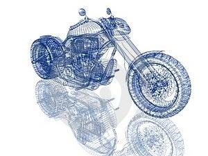 3d Model Bike Stock Images - Image: 18139584