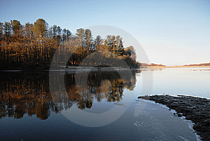 A Winter Lake Stock Images