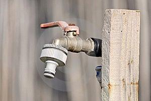 Faucet In Garden Royalty Free Stock Photos - Image: 18141058