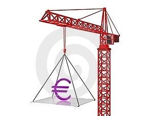 Euro Rise Up. 3d Render. Stock Photos - Image: 18141773