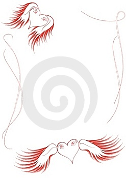 Flying Lovely Hearts Frame Royalty Free Stock Images - Image: 18142259