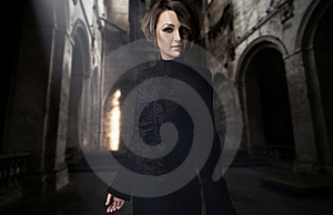 Young Woman Posing In A Castle Interior Stock Photos - Image: 18144973