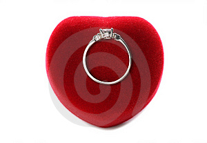 Valentines Day Ring With Heart Box Stock Photography - Image: 18145292