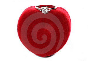 Valentines Day Ring With Heart Box Stock Images - Image: 18145344