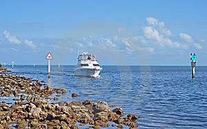 Boat In Navigation Chanel Stock Photos - Image: 18146943