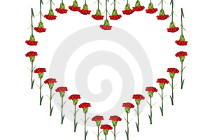 Carnations Heart Royalty Free Stock Photos - Image: 18147008