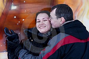 Couple Have Fun And Kisses Royalty Free Stock Photos - Image: 18153598