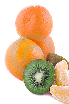 Orange And Kiwi Stock Image - Image: 18155371