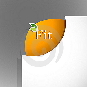 Paper Corner With Fit Sign. Stock Photo - Image: 18158630
