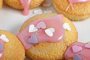 Cupcake With Icing And Hearts Royalty Free Stock Photography - Image: 18160647