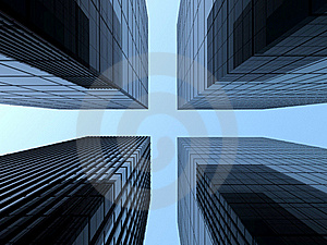 Glass Skyscraper Towers Stock Photography - Image: 18162362