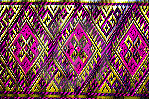 THAI TEXTILE DESIGN Stock Photo - Image: 18163350