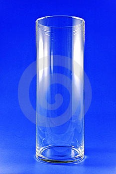 Tall Glass On Blue Royalty Free Stock Photography - Image: 18163937