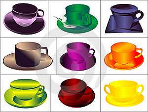 Set A Cup Of Drink Stock Images - Image: 18165044