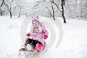 Little Girl In The Snow Stock Photography - Image: 18165252