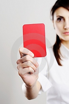 Red Card Royalty Free Stock Photos - Image: 18165608