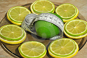 Lemon And лайм Help To Dump Excess Weight Stock Photo - Image: 18166150